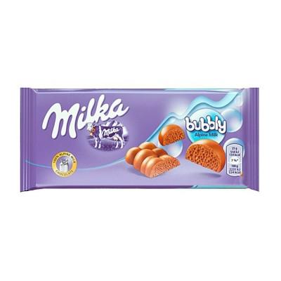 Milka tavoletta bubbly milk 90.gr