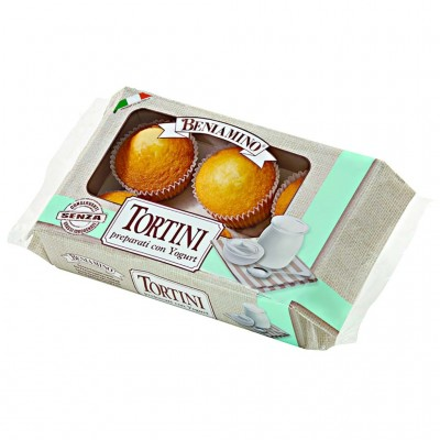 Beniamino tortini yogurt 6 pz 216 gr