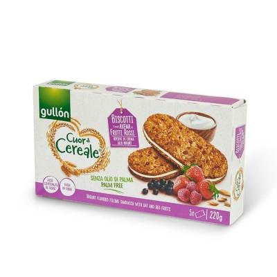 Gullon sandwich frutti rossi 5 pz 220gr